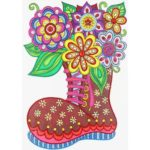 5D DIY Special Shaped Diamond Painting Boots Cross Stitch Mosaic Craft Kit