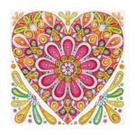 5D DIY Special Shaped Diamond Painting Heart Cross Stitch Mosaic Craft Kit