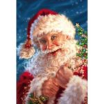 5D DIY Full Drill Diamond Painting Santa Claus Embroidery Mosaic Craft Kit