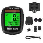 WEST BIKING Wireless Bike Computer Solar Energy MTB Backlight Speedometer
