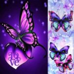 5D DIY Full Drill Diamond Painting Butterfly Embroidery Mosaic Kit (03)