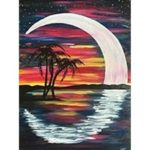 5D DIY Full Drill Diamond Painting Moon Embroidery Mosaic Kit Home Decor