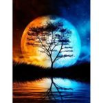 5D DIY Full Drill Diamond Painting Moon Embroidery Mosaic Kit Bedroom Decor