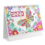 DIY Butterfly Special Shaped Diamond Painting 2020 New Year Table Calendar