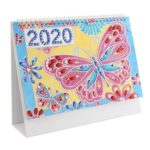 DIY Butterfly Special Shaped Diamond Painting Mini 2020 Table Calendar Gift