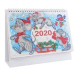 DIY Mouse Special Shaped Diamond Painting Mini 2020 Table Calendar Gift