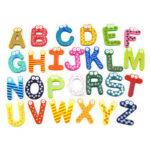 26pcs Wood 26 Alphabet Fridge Stickers Invisible Magnet Home Office Gadgets