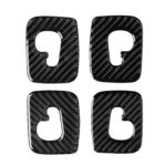 4pcs/set Carbon Fiber Roof Hook Cover Trim Stickers for Audi Q7 SQ7 4M