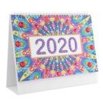 DIY Mandala Special Shape Diamond Painting 2020 Mini Desk Calendar Planner