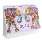 DIY Elephant Special Shaped Diamond Painting 2020 New Year Table Calendar