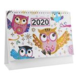 DIY Owl Special Shaped Diamond Painting Mini 2020 New Year Table Calendar