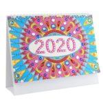 DIY Mandala Special Shape Diamond Painting Mini 2020 New Year Desk Calendar