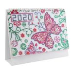 DIY Butterfly Special Shaped Diamond Painting 2020 Table Calendar Planner