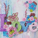 5D DIY Special Shaped Diamond Painting Love Cross Stitch Mosaic Kits Decor