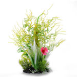 Artificial Curved Grass Fish Tank Water Plants Viewing for Aquarium Decor