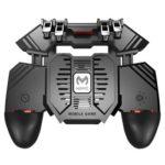 AK77 Six Finger Mobile Game Gamepad Joystick w/Dual Fan for PUBG (Plug-in)
