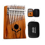 Muspor 20 Keys Kalimba Double Layer Thumb Piano Tuning Hammer with Case