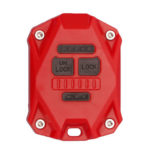 Replacement Key Fob Case Key Shell for Jeep Wrangler JK 2007-2018 (Red)