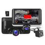 360 Rotatable Lens Car DVR Dashboard Camera with Rear View Camera (32GB TF)