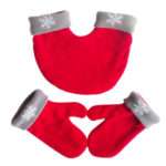 3pcs/set Winter Romantic Lover Gloves Warm Polar Fleece Mitten Gift (Red)