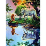 Beauty Horse Embroidery Kit Mosaic Craft 5D DIY Full Drill Diamond Painting