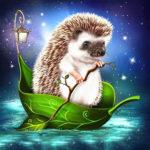 5D DIY Full Drill Diamond Painting Hedgehog Cross Stitch Mosaic Craft Kit