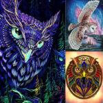 5D DIY Full Drill Diamond Painting Owl Embroidery Mosaic Kit Decor (LD117)