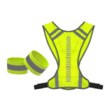 Outdoor Vest Night Jogging Cycling Reflective Safety Vest with Arm Belts