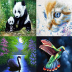 5D DIY Full Drill Diamond Painting Panda Cross Stitch Mosaic Kit (LD118)