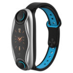 696 T90 Smart Bracelet with Earbuds IP67 Sports Fitness Wristband (Blue)