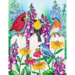 5D DIY Special Shaped Diamond Painting Bird Embroidery Craft Kit Home Decor
