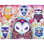 5D DIY Special Shaped Diamond Painting Owl Cross Stitch Mosaic Craft Kit