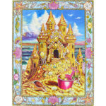 5D DIY Special Shaped Diamond Painting Castle Cross Stitch Mosaic Kit Decor