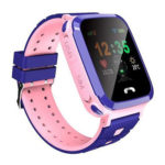 V16 1.44 inch Touch Screen Kids Smart Watch LBS Tracker SOS Call (Pink)
