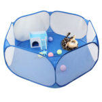 Foldable Pet Fence Game Safe Playpen Animal Cage for Hamster Guinea Pig