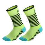 DH Sports Cycling Socks Breathable Mid Calf Socks for Outdoor (Green Black)
