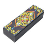 DIY Flower Diamond Painting Leather Eye Glasses Box Sunglasses Storage Case