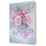 DIY Flower Diamond Painting Photo Album Kraft Paper Handmade Picture Case