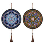2pcs DIY Diamond Painting Special Shape Drill Mandala Mural Home Pendants