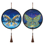 2pcs Butterfly Mural Home Pendants DIY Diamond Painting Special Shape Drill