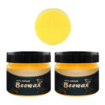 2pcs Wood Seasoning Beewax All Natural Furniture Care Beeswax with Sponge