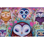 5D DIY Full Drill Diamond Painting Owl Embroidery Mosaic Kit Bedroom Decor