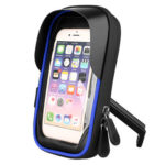 Bicycle Phone Touch Screen Bag MTB Handlebar Phone Navigation Stand (Blue)