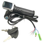 Electric Bicycle Throttle Grip Handle Accelerator with LED Display (60V)