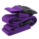 Luggage Cross Belt 3 Digits Password Lock Suitcase Buckle Belt (Purple)