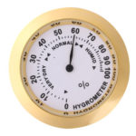 Violin Thermometer Hygrometer Round Temp Humidity Meter for Guitar Gold