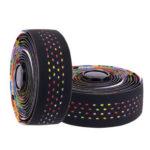 ZTTO 1 Pair Bicycle Handlebar Cork EVA PU Bar Tapes MTB Wrap (Multicolor)