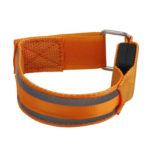 Dual Reflective LED Light Armband Safety Belt for Night Running (Orange)