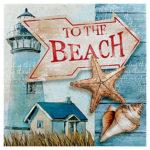 5D DIY Full Drill Diamond Painting Beach Cross Stitch Mosaic Kit Home Decor