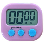 LCD Digital Timer Magnetic Kitchen Countdown Alarm Clock with Stand (Pink)